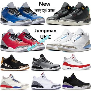 New Jumpman mens basketball shoes air 3 varsity royal cement animal instinct 2.0 UNC SE Fire Red court purple