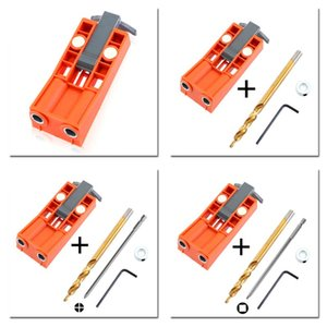 9.5mm Plastic Oblique Hole Locator Drill Guide Magnetic Hole Pocket Jig Kit Furniture Punching Positioner Woodworking Tool with