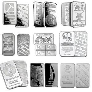 1 oz Silver Bullion Bar Gather - Stagecoach Argent sécable Bar Johnson Matthey soleil Towne Prospector Perth Mint Argent Bar Coin