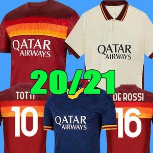 Tailandés como el jersey de fútbol maillot roma DE ROSSI DZEKO ZANIOLO roma TOTTI PEROTTI jerseys 19 20 21 camiseta de fútbol kit + 2.020 hombres Niños