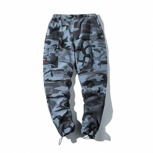 Mens Hip Hip Street Camouflage Cargo-Pants Jogger Frühlings-Art-Harem-Hose Casual Male Pants HwRJ #