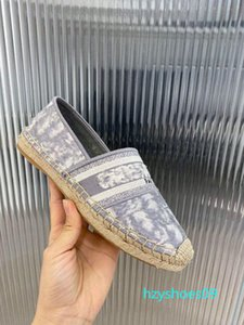 Nuovo Obliques donne del progettista Granville Espadrilles Sandali Oblique Espadrille stampa pantofola ricamo Vamp corda incunea unico 38 colori h9