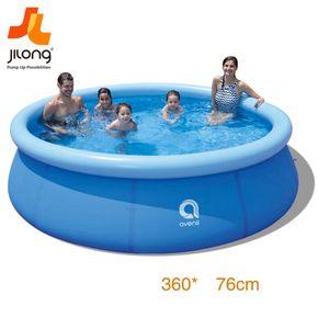 Familia inflables Piscinas sobre el suelo del patio trasero para / exterior, Blow portátil de agrupaciones de natación con bomba de filtración para los niños, adultos