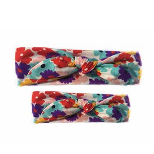Girl Baby Parent-child Floral Printing Turban Twist Headband Head Wrap Twisted Knot Soft Hair Band Headbands Headwrap 6style RRA2220