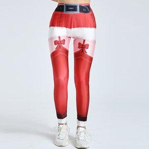 Christmas Digital Printing Gothic Women Sexy High Fitness Leggings New Lolita Style European And American High Elastic Sports Digital