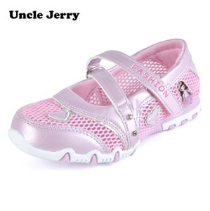 UncleJerry Spring Summer Breathable princess shoes Cartoon shoes for little girls Kids New fashion Flat Sandals T200708