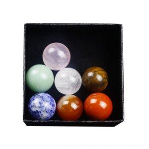 chakela natural agate 20mm seven-wheel ball meditation energy healing stone set Agate crystal Crystal specimen