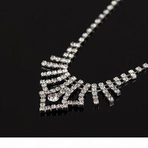 G Fashion Women 2016 Han Edition Of Design High Quality Wedding Bridal Crystal Rhinestone Necklace Earrings Jewelry Gifts