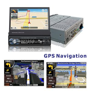 "1 din 7"" Universal Car Radio GPS Navigation Bluetooth Rear View Camera Auto radio Video Player MP5 Stereo Audio FM USB SD"
