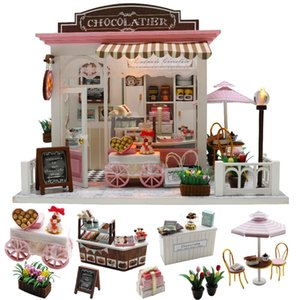Cutebee Doll House Furniture Miniature Dollhouse DIY Miniature House Room Box Theatre Toys for Children stickers DIY Dollhouse K MX200414