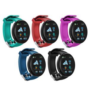 Pulsera D18 inteligente impermeable reloj de presión arterial del ritmo cardíaco del deporte del color de la pantalla Rastreador inteligente el WristBand SmartBand podómetro para iOS Android