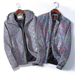 Yeni 2020 Lüks Tasarımcı ceketler Erkekler Moda Letter Palto Marka Tasarımcı WINDBREAKER Mens Streetwear Fermuar ceket yazdır
