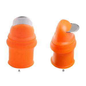 Silicone Thumb Knife Plant Fruit Vegetable Separator Picker with Flat   Curved Blade for Vegetable Garden Kitchen