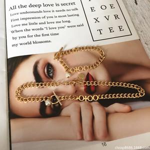 2020cd carta de família estrela mesmo estilo de metal colar de moda tendência all-match bracelete de ouro pérola para mulheres