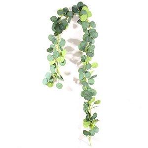 2M Silk Artificial Eucalyptus Garland Rattan Wreath Home Gardening Wedding Ceremony Event Party Decor