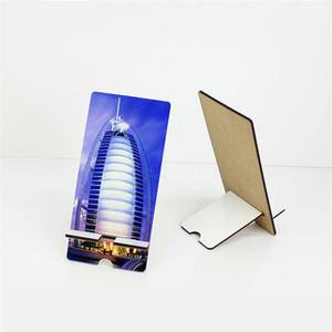 100PCS Mixte Style MDF Sublimation Blanks téléphone portable Mounts Support à Support de bureau universel pour iPhone 11 X 7 pour Samsung S20 Smartphone