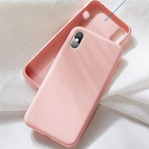 Custodia Soft Phone in silicone per iPhone 12 di copertina 11 Pro MAX XS XR SE 2 Samsung Galaxy S20 S11 più