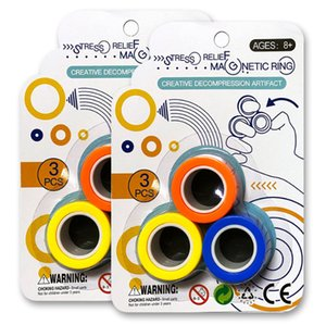 factory free shipping magnetic ring relief toy anti-stress fingears stress reliver finger ring fidget spinner toys magnetic rings