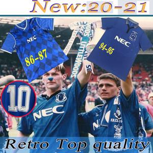 Верхний уровень Лучшее качество 86 87 94 95 Эвертон РЕТРО размер футбол Джерси S-XXL 1986 1987 1994 1995 Эвертон РЕТРО футбол Джерси