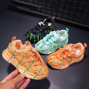 Kid's New Children's Sports Shoes Boys Girls Casual Breathable Mesh Baby Toddler Shoes SIZE25-35 Sneakers for Students