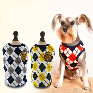 Popular Flannel Dog Apparel Rhombic Lattice Printing Vest Clothes Soft Easy To Use In Autumn Winter Fine Workmanship Bardian 16 8aw10 dd