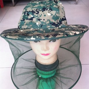 Beekeeping Cap Outdoors Mosquito Control Jungle Hat Go Fishing Sunscreen Camouflage Shawl Caps Factory Direct Selling 3 8sha p1