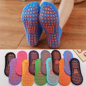 Silicone non-slip socks bottom indoor children's early education yoga trampoline socks home floor sports baby sock for 1-4years DHA410