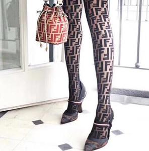 Top Quality gucci fendi Sexy Pantynose Women Full Letter Black White Leggings Fashion Brand Girl Hosiery