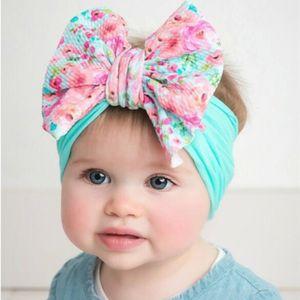 10ps lot 2020 printing wide headband girl mermaid rainbow fashion nylon headband child corn kerb big bow