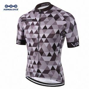 Kemaloce Classic Pro Tour stretta Uomini Ciclismo maglia traspirante Dye Sublimated gara ciclistica Indumenti riflettenti grigio Pro Bike Wear Kodo #