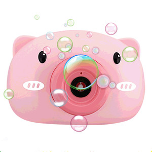 Cute Cartoon Pig Camera Kids Camera Bubble Machine Outdoor Toys for Children Automatic Bubble Maker Parent-child Interactive Toys Girl Gift