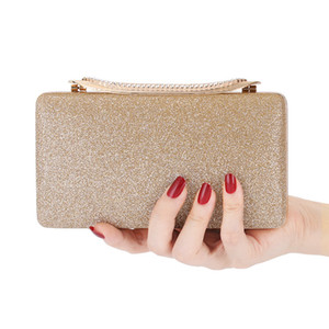Trendy New Lady Fashion Plated Evening Bag Chain Hand Evening Bag Lady Bag