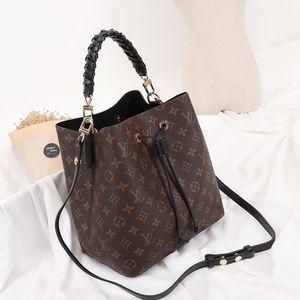 Drop Ship Women &#039 ;S Bag Fashion Design High Quality Messenger Bag Style Leather Bucket Bag Handbag Drawstring Shoulder Bags Fast Delive
