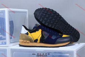 xshfbcl 2020 Новый цвет Camo Suede шипованных Камуфляж Rock Runner тапки обувь для женщин Мужчины Стад Повседневный Lusso progettista обувь Кроссовки ч