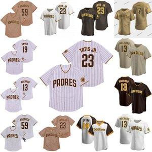 23 Fernando Tatis Jr. Padres Jersey 13 Manny Machado Chris Paddack Eric Hosmer Wil Myers Margot Hunter Ian Kinsler Jersey