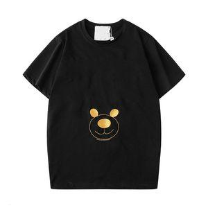 19ss Couture Milano Letter Print Men Tee Teddy Bear Cotton T SHIRT Men Women Mosos Tops Streetwear T-shirts SP986