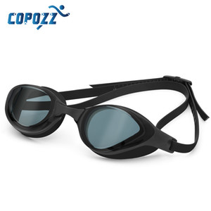 COPOZZ Professional Waterproof Plating Clear Double Anti-fog Swim Glasses Anti-UV Men Women eyewear swimming goggles with case Y200616