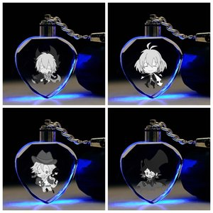 SERVAMP формы сердца Аниме LED Брелоки Рисунок брелоки Кристалл игрушка брелок свет Keyholder унисекс Подарки NEW