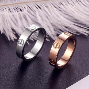 2020 Hot Boutique 316L amore d'acciaio di titanio Chiodi Anelli Anelli amanti della fascia di formato per monili delle donne e degli uomini di marca con sacchetto originale