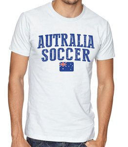 Australia Team Soccer T-shirt Adults s Soccer Jersey 100 % cotton Any Sports
