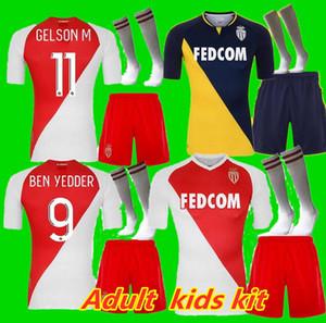 enfants adultes kit 20 21 AS MONACO FOOTBALL MAILLOTS 2020 2021 FOOTBALL SHIRT Keita Balde BEN YEDDER Gelson FABREAGS GOLOVIN de pieds maillots