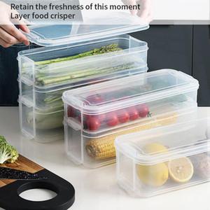 Hot Plastic Storage Bins Refrigerator Storage Box Containers With Lid Kitchen Fridge Cabinet Freezer Desk Organizer