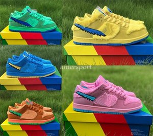 2020 New Grateful Dead x SB Dunk Low Courir Chaussures sport Dancing Bears Sneakers Skateboard Hommes Femmes Casual Taille Chaussures 36-46