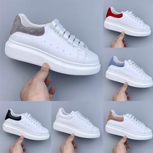 2020 hommes femmes chaussures de plate-forme mode blanc noir formateurs hommes en cuir suédé en cuir réfléchissant de marche de jogging chaussures casual cru