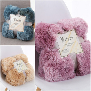 Novo padrão de bebê cobertores Simplicidade lançar cobertor Home Textiles Macio Longo Shaggy Quente Cama artigo Four Seasons 17ly D2