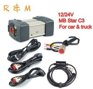 2020 neueste sd connect mb star c3 Multiplexer mb c3 Stern Diagnose mit Kabel HDD für Merced