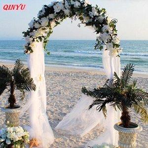 Moda 72cm * 10M cores Neve Yarn Gauze Sheer Cristal Partido Decoração Flor Organza de seda arcos casamento Supplies9ZSH015