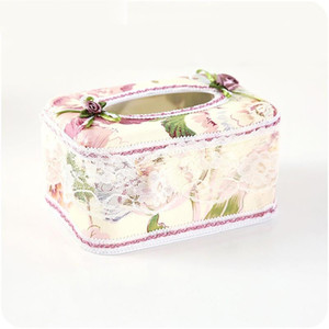 Tissue Box Countryside Lace Fabric Art Non Toxic Napkin Case Home Furnishing Car Paper Towel Holder Flower Printing Design 5 4yj ZZ