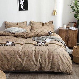 60 Diseñador Sistemas del lecho funda nórdica hoja de cama de la funda de almohada Colcha edredón nueva cubierta del lecho para el hogar