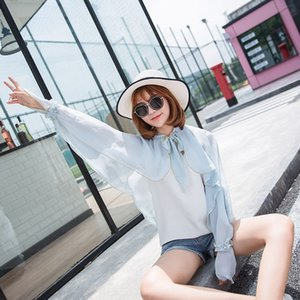 Beach chiffon blouse driving sun-proof shawl bicycle Shawl bicycle women's long sleeve UV-proof cycling sun-proof clothing